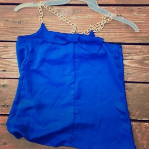 Charlotte Rouse bow Back Chain Strap Tank Top